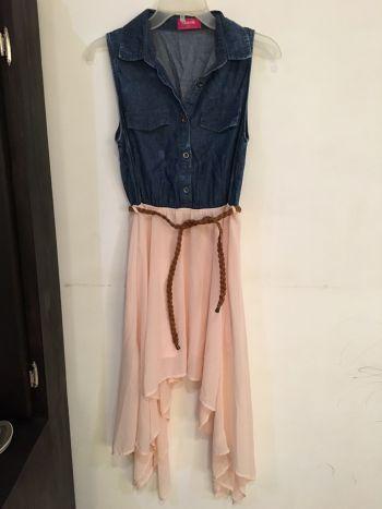 Foto Carousel Producto: Vestido mezclilla/rosa GoTrendier