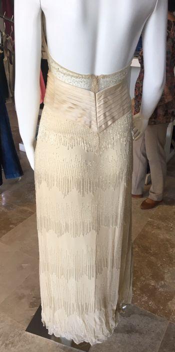 Foto Carousel Producto: Vestido beige canutillo GoTrendier