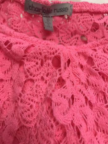 Foto Carousel Producto: Blusa de encaje rosa GoTrendier