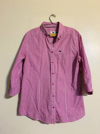 Foto Carousel Producto: Camisa rosa a cuadros GoTrendier
