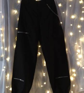 Foto Carousel Producto: Pantalon de cargo negro shein GoTrendier