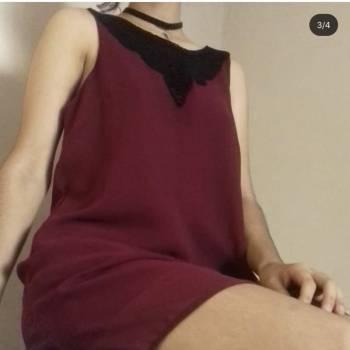 Foto Carousel Producto: Vestido guinda suleto con encaje S / m GoTrendier