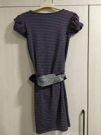 Foto Carousel Producto: Vestido gris rayas GoTrendier