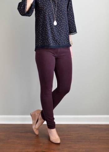 Foto Carousel Producto: Pantalon color uva  GoTrendier